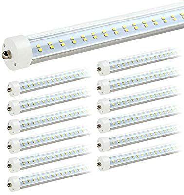 Jesled 8ft Led Light Bulbs Single Pin Fa8 Base T8 T10 T12 8 Ft Led Tube 50w 5000k Daylight 6000lm 100 130w Equival Led Tubes Led Light Bulbs Light Bulbs