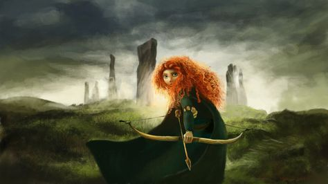 Merida, from Brave by RussianVal on deviantART
