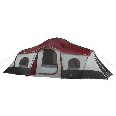 Advertisement Ebay Large Outdoor Camping Tent 10 Person 3 Room Cabin Tent With 2 Side Entrances In 2020 Cabin Tent Tent Tent Camping