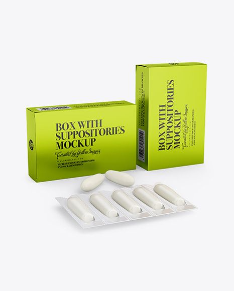 Two Metallic Boxes With Suppositories Mockup Half Side View In Box Mockups On Yellow Images Object Mockups Mockup Free Psd Free Psd Mockups Templates Psd Mockup Template