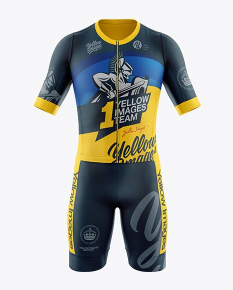 Download Men S Cycling Kit Mockup Front View In Apparel Mockups On Yellow Images Object Mockups Clothing Mockup Design Mockup Free Shirt Mockup PSD Mockup Templates