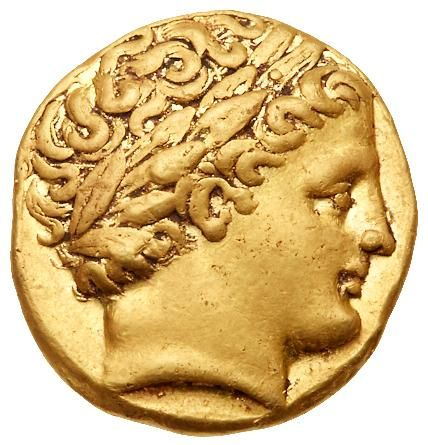 Ancient Greek Gold Stater Coin of King Philip II of Macedon 323 BC  coin