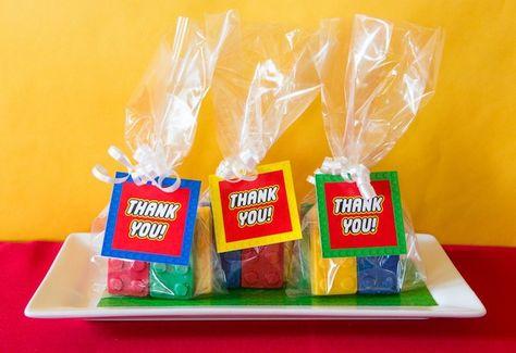 Chocolate Lego Block Favors from a Lego Inspired Teacher Appreciation Party via Kara's Party Ideas! KarasPartyIdeas.com (8)