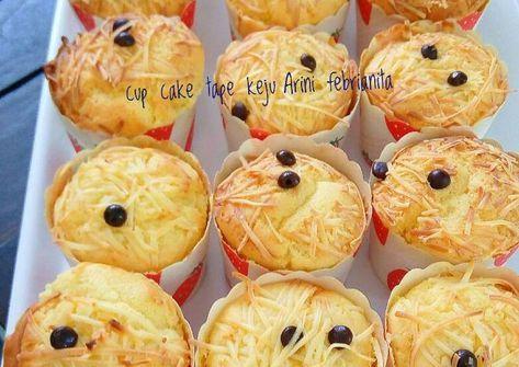 Resep Cup Cake Tape Keju Premium Oleh Arini Febrianita Resep Keju Resep Kue Mangkok Kue Sehat