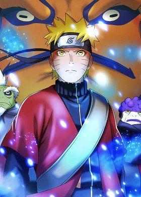 Naruto Sage Mode Poster By Onepiecetreasure Displate Naruto Shippuden Anime Naruto Sage Naruto Uzumaki Hokage