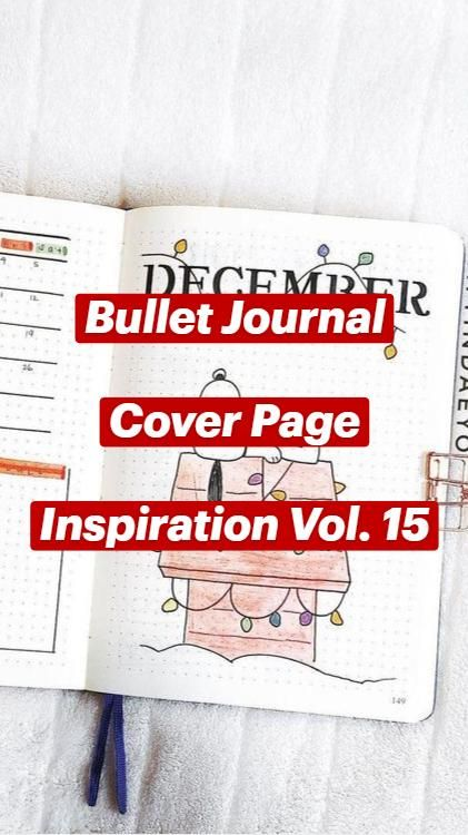 Bullet Journal  Cover Page  Inspiration Vol. 15