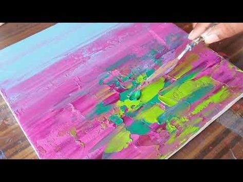 Water Lilies Abstract Painting Demonstration Satisfying