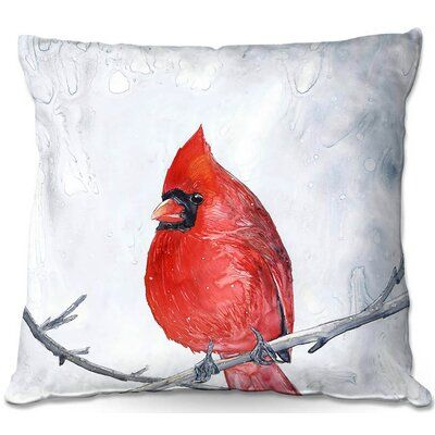 East Urban Home Couch Winter Cardinal Square Throw Pillow Wayfair In 2020 Throw Pillow Sizes Couch Throw Pillows Throw Pillows