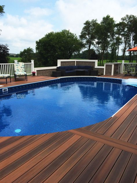 65 Backyard Ideas In 2021 Backyard Above Ground Pool Decks Pool Deck Plans