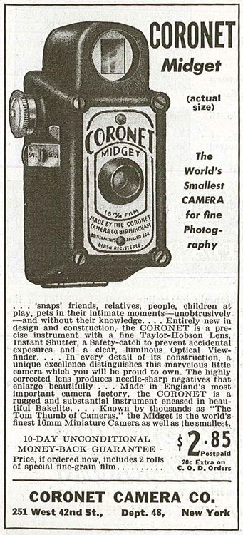Coronet Midget Vintage cameras collection by Sylvain Halgand