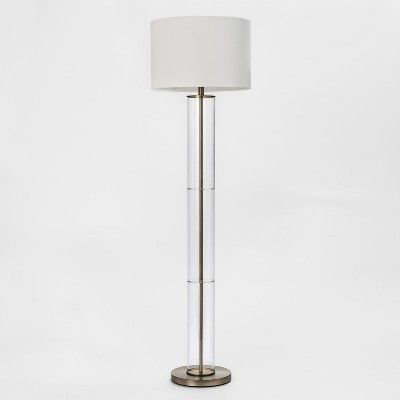 Clear Column Floor Lamp Lamp Only Brass Project 62 Column Floor Lamp Tall Floor Lamps Lamp
