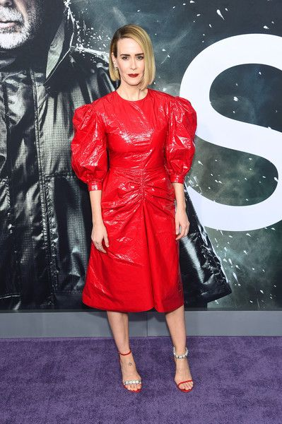 Sarah Paulson attends the 'Glass' New York Premiere at SVA Theater.