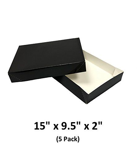 Black Apparel Decorative Gift Boxes With Lids For Clothing And Gifts 15x9 5x2 5 Pack Magicwater Supply Re Gift Boxes With Lids Gift Decorations Box With Lid
