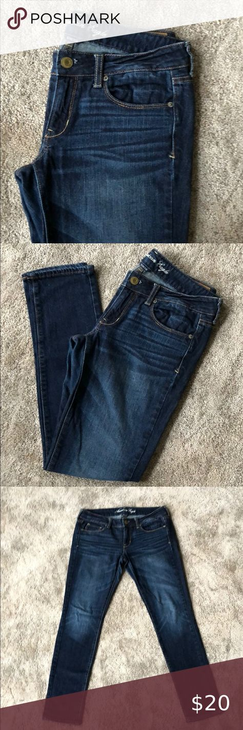 I just added this listing on Poshmark: Dark Wash Skinny Stretch Jeans. #shopmycloset #poshmark #fashion #shopping #style #forsale #American Eagle Outfitters #Denim