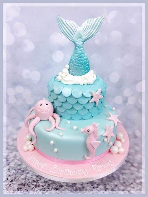 Mermaid's Tiers Cake #mermaid #mermaidcake