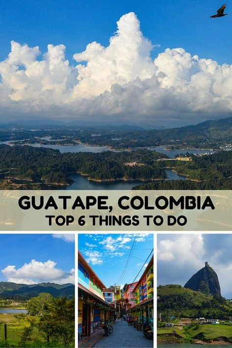 Top Six Things to do in Guatape, Colombia: Visiting small towns is as rewarding to us as exploring the speed and energy of foreign cities. Situated on a bank of a beautiful lake, Guatape is known for the fresco-like images depicting daily farming life which adorn the lower portion of most buildings. It has a lot to offer visitors, especially its stunning natural surroundings. Here are Six Things to do in beautiful Guatape, Colombia.