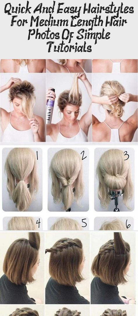 Quick and easy hairstyles for medium length hair: photos of simple tutorials  #hairstyles #length #medium #photos #quick #simple #tutorials #hairstylesformediumlengthhairAfricanAmerican #hairstylesformediumlengthhairFormal #hairstylesformediumlengthhairTutorial #hairstylesformediumlengthhairDark #hairstylesformediumlengthhairHalfUp