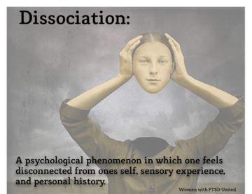 Dissociation, Dissociative Identity Disorder, PTSD, Post Traumatic Stress Disorder, derealization