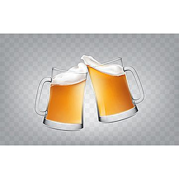 Vector Illustration Of A Realistic Style Two Glass Toasting Mugs Beer Mug Two Png And Vector With Transparent Background For Free Download Beer Vector Glass Craft Beer Labels