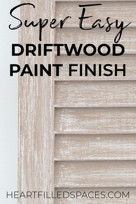 How to easily achieve a driftwood paint finish without removing the old paint. these three simple steps to get an aged rustic paint finish on your next project. Furniture Repair, Paint Furniture, Furniture Makeover, Furniture Projects, Furniture Design, How To Whitewash Furniture, Diy Projects, Chalk Paint Projects, Refinished Furniture