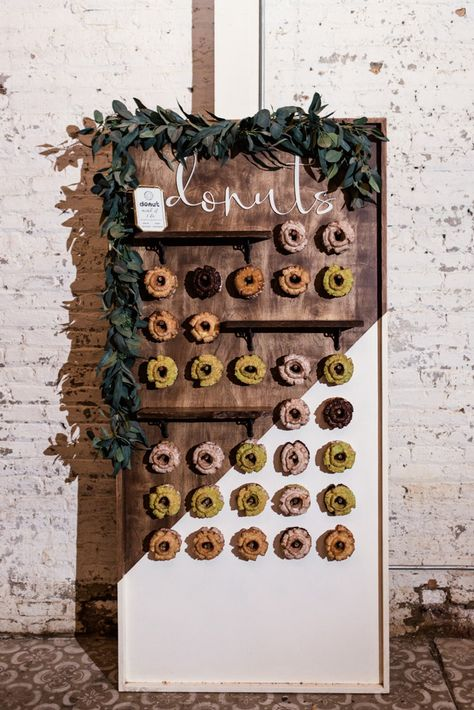 The Joinery Chicago wedding donut wall for guests