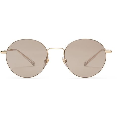 a0981469aa0 Gucci Steel Round-Frame Sunglasses ( 375) ❤ liked on Polyvore featuring  accessories