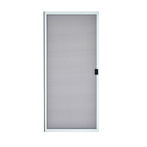Reliabilt White Steel Sliding Screen Door Common 36 In X 80 In Actual 36 In X 80 In Sliding Screen Doors Sliding Curtains Sliding Patio Screen Door