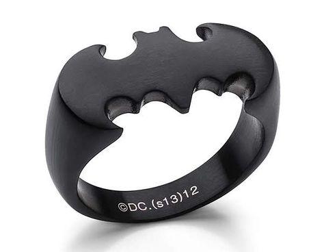 ThinkGeek :: Batman Ring in Matte Black