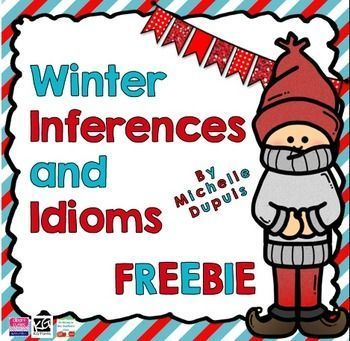 Enjoy this Freebie. This resource includes: - 8 Winter inference cards that will allow your students to get some extra practice. Speech Therapy Activities, Language Activities, Classroom Activities, Winter Activities, Idioms Activities, Literacy Games, Christmas Activities, Writing Activities, Speech Language Therapy