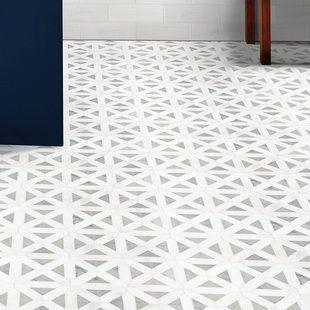 Cordelio Arabesque 12 X 12 Marble Mosaic Tile In White Gray Dark Gray Wayfair Bathroomfloor Marble Mosaic Tiles Marble Mosaic Mosaic Tiles