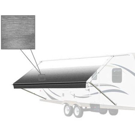 Aleko 8 X8 Retractable Rv Patio Awning White Black Fade Color Walmart Com Retractable Awning Rv Awning Fabric Patio Awning