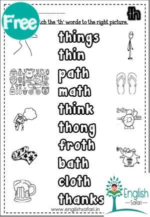 Digraph Th Pack 1 English Safari Kindergarten Worksheets Kindergarten Worksheets Printable Kindergarten Phonics Worksheets Th worksheets for first grade