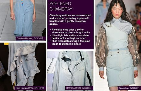 #Trendstop SS19 Denim Trends on #WeConnectFashion. Theme: Softened Chambray