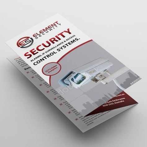 A4 brochure design - security company - plenty work to follow for the winner | Postcard, flyer or print contest