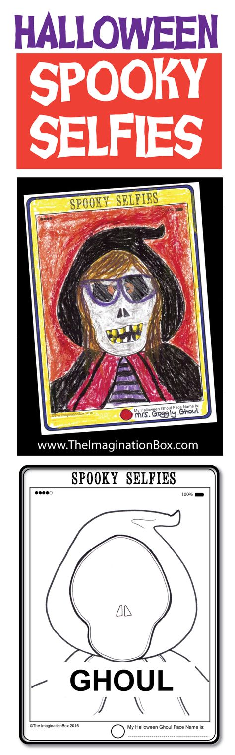 Have fun celebrating Halloween creatively with this modern, 'tech' tablet 'Spooky Selfies' art resource pack.Invite students to create a spooky self portrait using one of the 6 hand drawn outline images provided in the pack: Witch, Vampire, Ghoul,Pumpkin, Spider,Bat This activity encourages working imaginatively, thinking about portraits in an abstract way, whilst celebrating all the spookiness of halloween. 14m