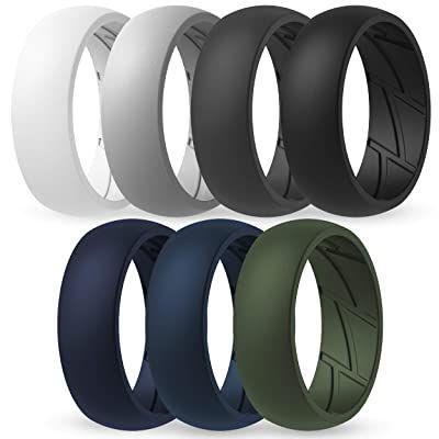 11 99thunderfit Silicone Wedding Rings For Men Breathable Airflow Inner Grooves 7 Rings 4 Rings In 2020 Mens Wedding Rings Silicone Wedding Rings Rings For Men