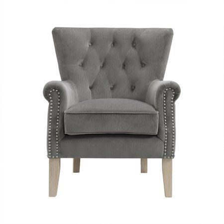 bda46829bc30b0029fcd06b2a4537189 - Better Homes And Gardens Rolled Arm Accent Chair Gray