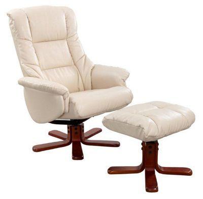 Pleasant Debenhams Cream Bonded Leather Elliot Recliner Chair Creativecarmelina Interior Chair Design Creativecarmelinacom