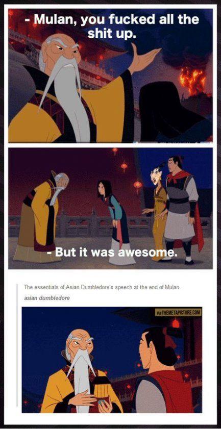 Quotes Disney Funny Mulan 20 Ideas In 2020 Disney Funny Disney Jokes Disney Memes