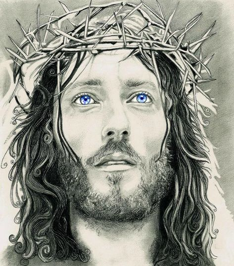 Robert Powell, British actor who played Jesus in 'Jesus of Nazareth'... Pencil on paper