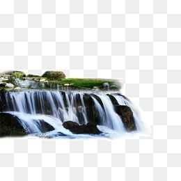 2017 Waterfall Landscape Material Waterfall Beautiful Scenery Background Material Png Transparent Clipart Image And Psd File For Free Download Waterfall Landscape Landscape Materials Landscape