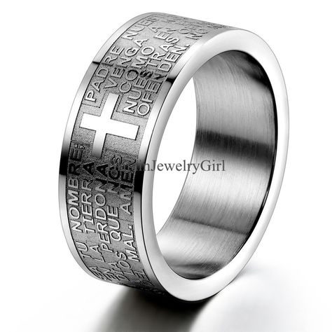 TRI-COLORED WEDDING BAND 316L Stainless Steel Ring SIZES 6-13