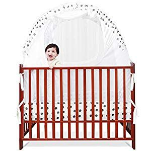 Sdadi Baby Crib Safety Tent Pop Up Mosquito Net With Baby Monitor Hang Ribbon Toddler Bed Canopy Netting Cover Dots Wlcn01d Crib Bedding Crib Bedding Sets In 2020 Baby Cribs