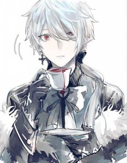 Anime Boy Geek In 2020 White Hair Anime Guy Cute Anime Guys Vampire Boy