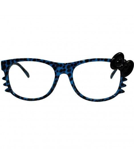 d654b1c4c Women's Sunglasses, Wayfarer, Hello Kitty Leopard Nerd Frame Clear Lens  Glasses w/ Bow and Whiskers - Blue - CY11J61P6NR #Women #Sunglasses  #Wayfarer ...