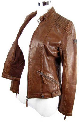 Gipsy - Damen Lederjacke Lammnappa mittelbraun 6522 Lederjacken Damen - Ihre Lederjacke direkt vom Fachhändler