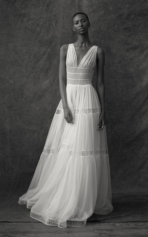 Silk Sleeveless Cut Out Gown by Maison Rabih Kayrouz | Moda Operandi