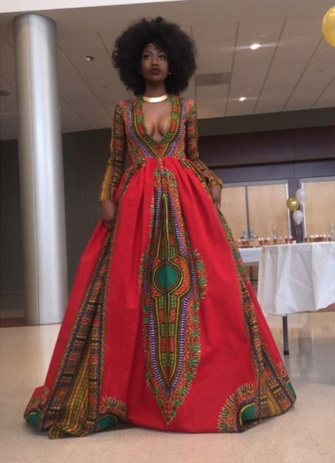 Natural High School Senior Breaks the Internet with Stunning Self‐Designed Afrocentric Prom Gown