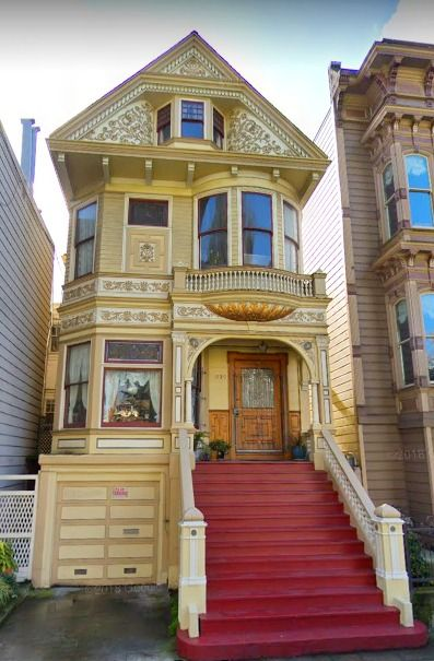 Divine Queen Anne Victorian Painted Lady House In San Francisco