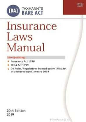 Insurance Laws Manual 20th Edition 2019 Author S Taxmann
